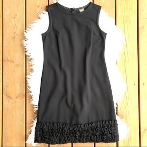 [Taylor]Black Sleeveless Ruffle Mini Dress -Size 2
